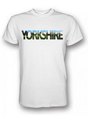 Hardraw Yorkshire Typography design on a white t-shirt
