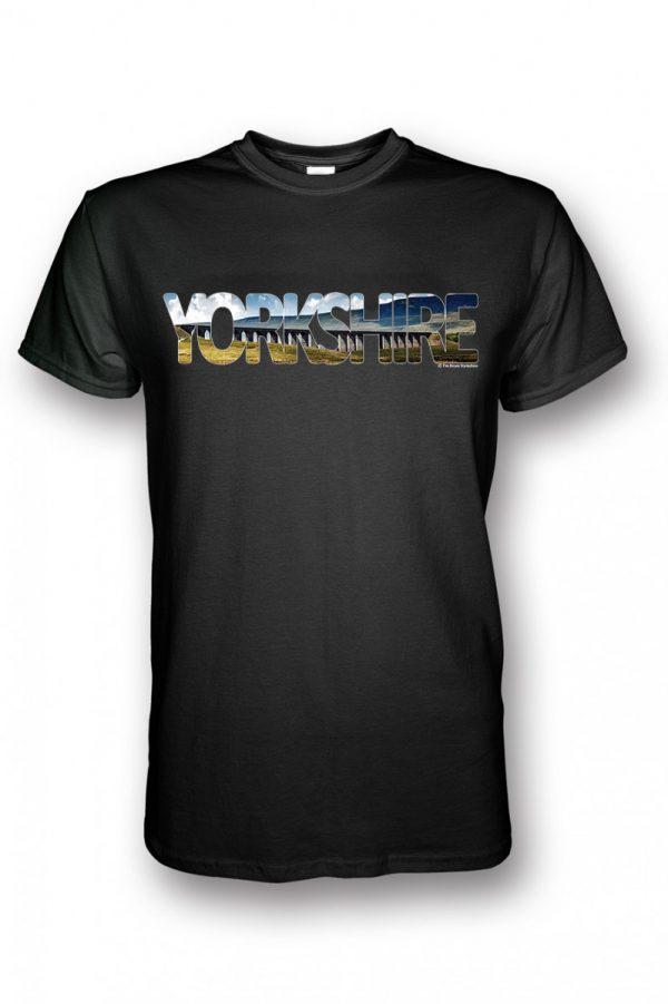 ribblehead yorkshire typography on black t-shirt
