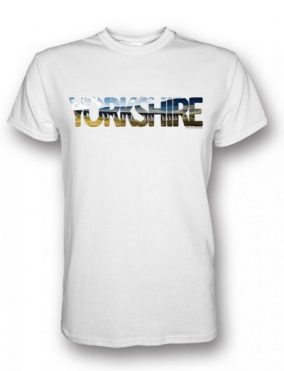 Ribblehead Yorkshire Typography design on a White T-Shirt