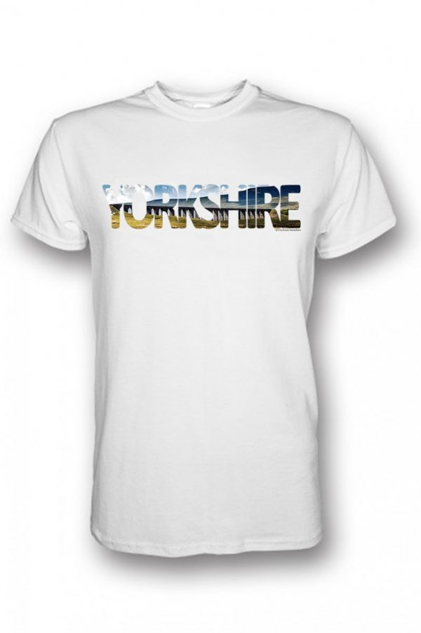 ribblehead yorkshire typography on white t-shirt