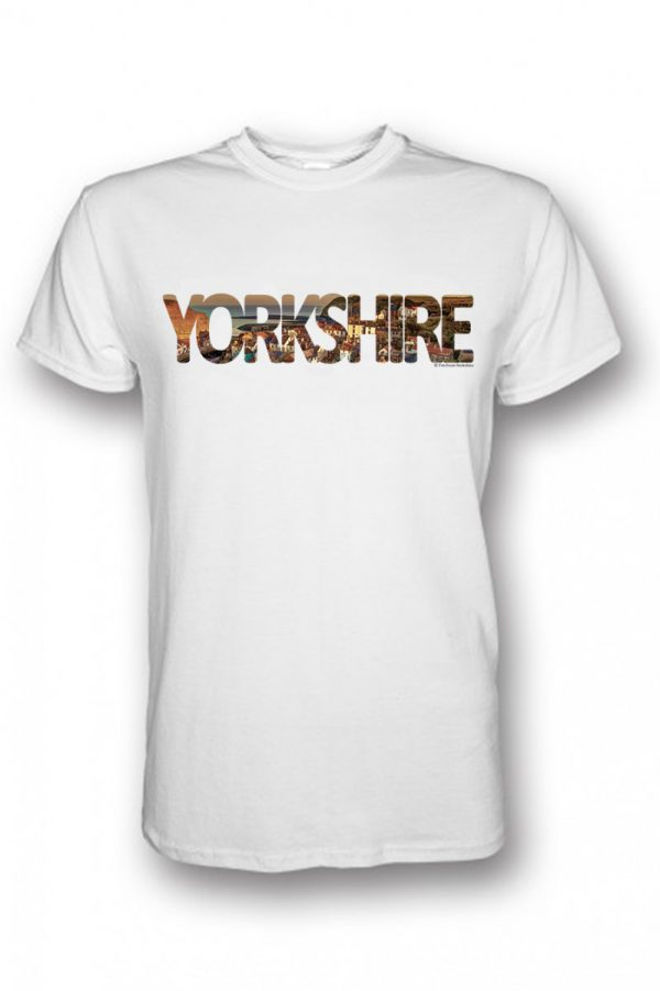 staithes yorkshire colletion t-shirt white