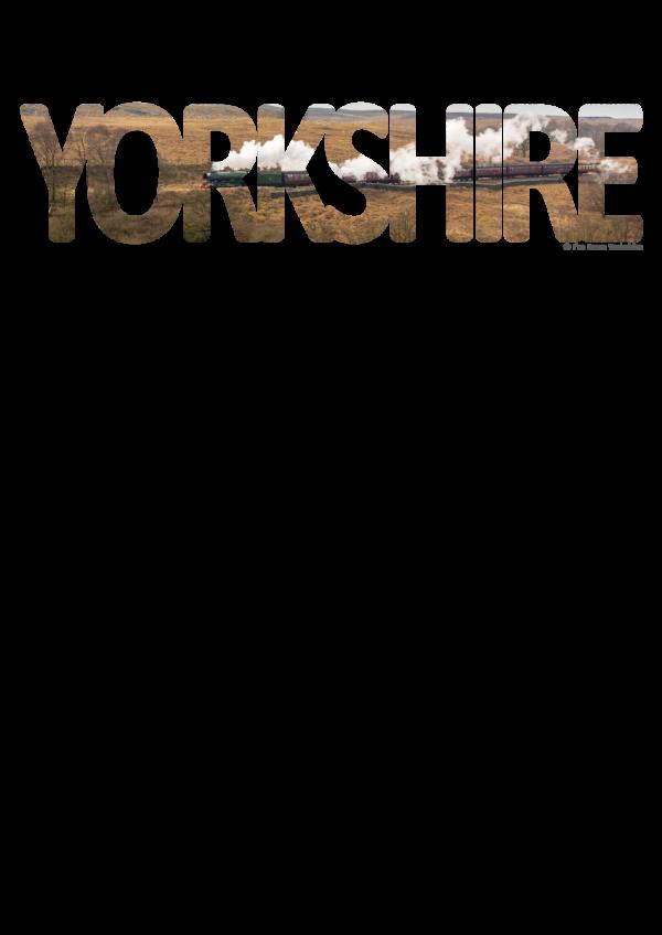 Goathland yorkshire typography on transparent background