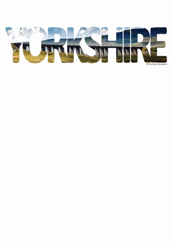 ribblehead yorkshire typography on transparent background