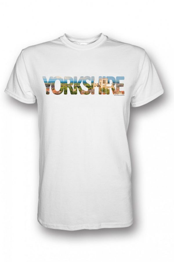 York Yorkshire Typography Design on a White T-shirt