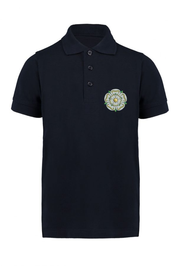 children's yorkshire rose polo navy