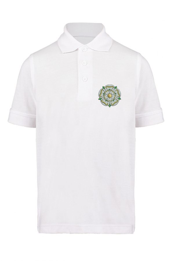 children's yorkshire rose polo white