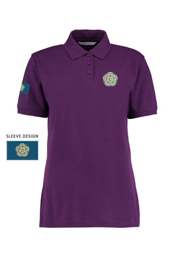 ladies yorkshire rose polo magenta