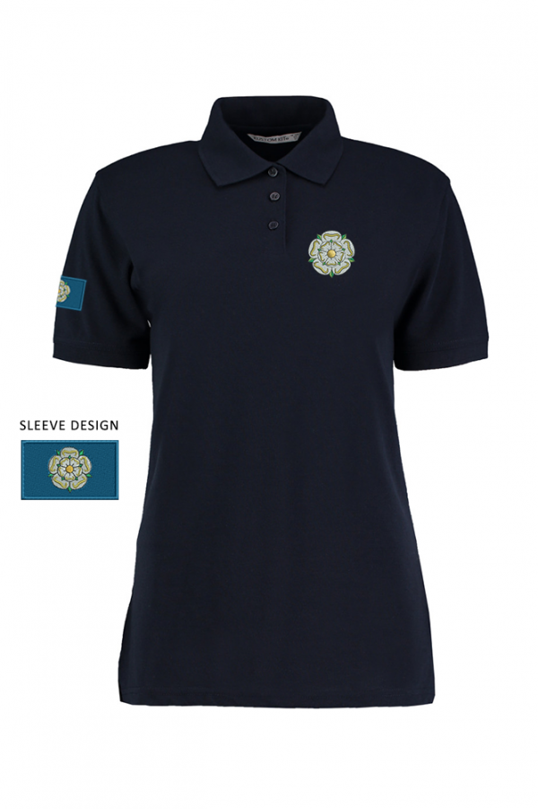 ladies yorkshire rose polo navy