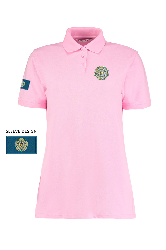 2ca883c3 Yorkshire Rose & Flag' Ladies Polo Shirt - I'm From Yorkshire