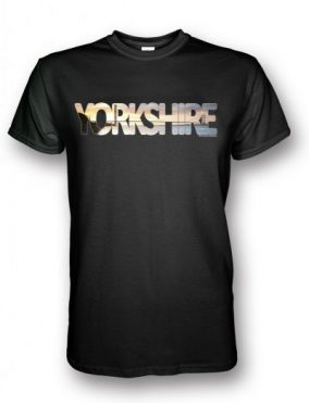 Humber Bridge Yorkshire Typography design on a black t-shirt