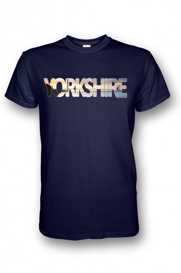 humber bridge yorkshire typography on navy t-shirt