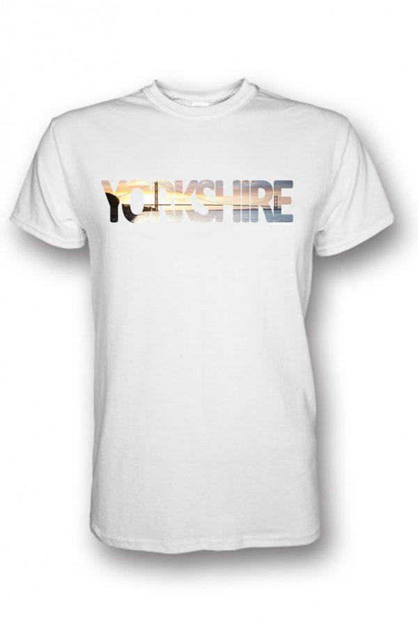humber bridge yorkshire typography on white t-shirt
