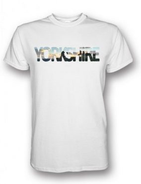Sandal Castle Yorkshire Typography White T-Shirt