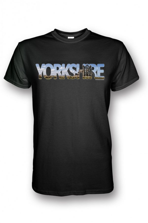 Whitby abbey yorkshire collection t-shirt black