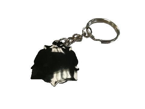 i'm from yorkshire keyring back with transparent background