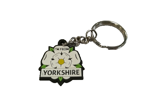 i'm from yorkshire keyring with transparent background