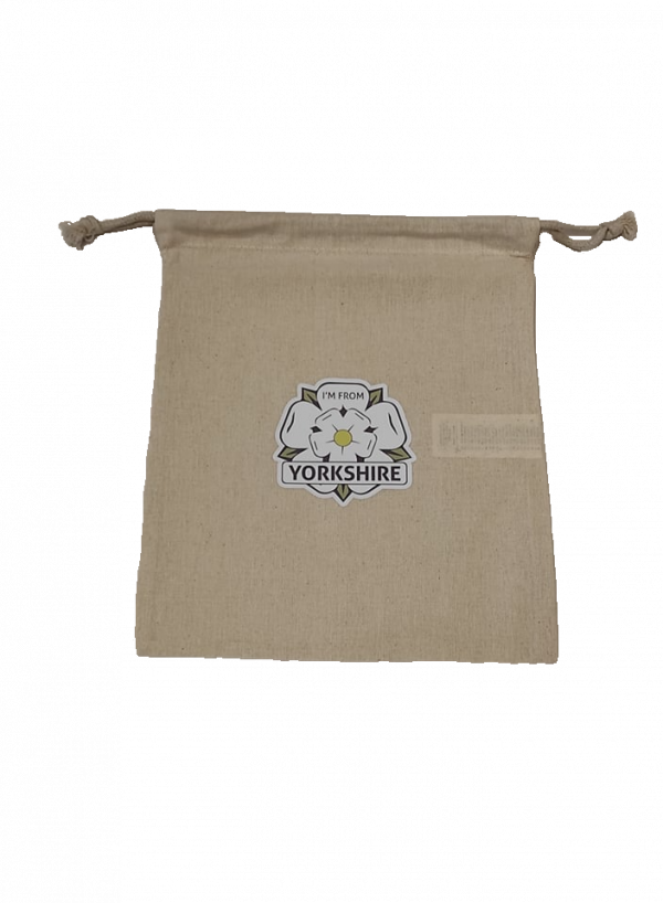 large gift bag with i'm from yorkshire logo in centre with transparent background